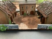 No169 Farm With House,barn, And Stable With Thatched Roof 28mm