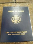 2007 American Eagle One-tenth Ounce Proof Gold Bullion Coin Proof U.s. Mint 5