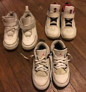Lot 3 Authentic Micheal Jordan Sneakers Boys Size 10c Well Used Good Condition