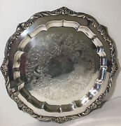 Vintage Heritage 1847 Rogers Bros Serving Tray/ Silver Plate 9473-size 17''