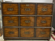 Theodore Alexander 9 Drawer Campaign Style File Cabinet Very Good Condition
