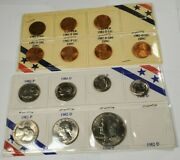1982 Us Uncirculated Philadelphia And Denver Min Coin Set 15 Coins