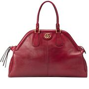 Nwt Womenand039s Re Belle X Large Leather Top Handle Tote Bag Red