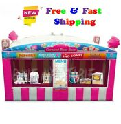 Fast Food Oxford Pink Inflatable Carnival Treat Shop Popcorn Ice Cream Booth4x3m