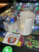 Pinball Machine Drink/cup/pop/soda/beverage Holder All Side Mountable - White