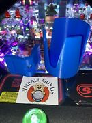 New Pinball Machine Drink/cup/pop/soda Holder In Blue - Mountable On All Sides