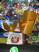 Pinball Machine Drink/cup/pop/soda/beverage Holder All Side Mountable - Gold