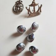 Brunei Darussalam Royal Cap Badge Buttons Pin Badge Silver Tone Collection