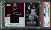 Lebron James Game Used Nba Finals Jersey Patch /25 Psa 9 Mint 2017-18 Eternal