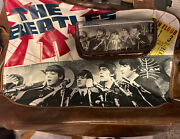 🔥 🔥 The Beatles Messenger Bag With Wallet Ticket To Ride Theme 🔥 🔥
