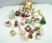 Lot Of 23 Vintage Christmas Hand Blown Glass Ornaments Poland Germany Czech