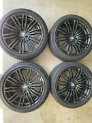 Bmw 664m Oem Matte Black Staggered Wheel And Tire Set