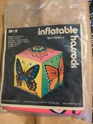 Rare Vintage Dan Dee Imports 1971 Butterfly Floral Inflatable Ottoman/footstool