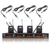 4 Guitar Cable Wireless Microphone For Sennheiser Professional Stage Performance