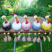 5pcs Funny Chicken Yard Art Resin Rooster Outdoor Statues Decorative
