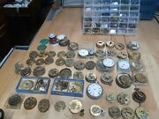Massive Lot Of Verge And Lever Fusee Parts Plus Movements Largest Lot I Have Seen