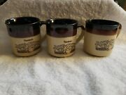 Hardees Rise And Shine Homemade Biscuits Coffee Cup Mugs 3 Vintage 1986