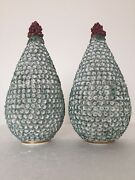Chelsea Porcelain Gold Anchor Period Applied Mayflowers Pear Shaped Vases C1760