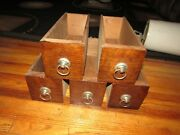 5 Antique White Family Rotary Treadle Sewing Machine Drawers