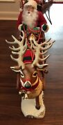 Used Trim A Home Holiday Creations Animated Reindeer And Santa On Sleigh In Box