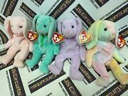 1996 Retired Authentic Hippity Hoppity And Floppity Bunny Trio And 1999 Hippie