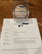 Luis Robert Game Used 39th Career Hit Rookie Single Ball 9/8/20 White Sox V Pit