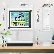 Weather Station Digital Thermometer Hygrometer Indoor Outdoor Temperature Us