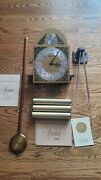 Herschede Grandfather Clock Dial Movement Weights Pendulum Chimes Chains Rare