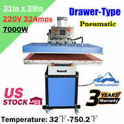 Usa 31x39in Pneumatic Slide Out Drawer Large Format Heat Press Machine 220v 7kw