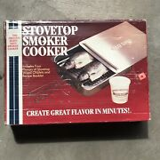 Camerons Vintage Heavy Duty Stainless Steel Stovetop Smoker Cooker New Old Stock