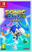 Sonic Colours Ultimate Switch Brand New And Sealed Uk Pal