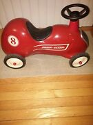 Vintage Radio Flyer Little Red Roadster Ride On Push Race Car 8 Kids Toy Pedal
