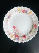 """Spode Fairy Dell Dinner Plates 4 Copeland England Vintage Floral Swirl 10 1/2"""""""