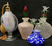 Royal Limited Crystal Made In Taiwan Perfume Bottles Lot Of 4