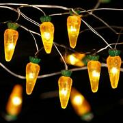 Easter Day Decorations String Lights Carrot Paschal Theme String Lights 10 Ft 30