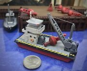 Rtr - 36and039 Work Barge N Scale 1160 Custom Designed Handcrafted Model Railroad