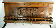 Antique French Wood Carved Wall Coat Rack Myhtological Angel Putti Cherubs