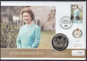 2006 - Bequia Queens 80th Birthday Coin Cover Commemorative Gibraltar Crown