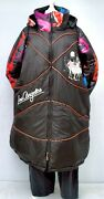 Plus Size Black/multicoloured Quilted Hooded Coat With Lining Bust 52-54xl-xxl