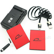 Acesoft 2x 5170mah Battery Charger Cable 3ft For Samsung Galaxy S4 Mini Sm-s890l