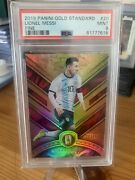 2019-20 Panini Gold Standard Lionel Messi Great Card 28/29 Excellent