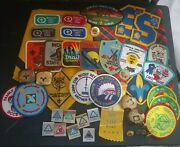 Boy And Cub Scout Memorabilia Lot Patches Slides Belt Loops Pin Pendant Scarf