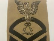 Navy Rate Bullion Cpo Chief Petty Officer Culinary Specialist Patch Insignia 23