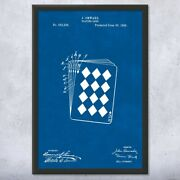 Framed Playing Cards Wall Art Print Poker Player Magician Gift Casino Decor