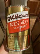Vintage Richardson Root Beer One Gallon Syrup Can Rare