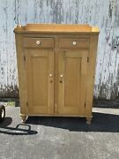 Antique Jelly Cupboard 1830s Country Tall Gallery Dovetailed Great Look