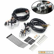 Aluminum Handlebar Control Switches 45 In Wiring Harness Kit For Harley Softail
