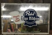 Vintage Pabst Blue Ribbon Brewing Co. Andlsquowhatandrsquoll Haveandrsquo Advertising Mirror Sign