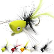 Fly Fishing Poppers Lures For Bass Panfish Flies Topwater Crappie Bluegill Kit