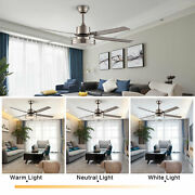 48and039and039 Modern Ceiling Fanchandeliers 3 Speed Setting Fan Light With Remote Control